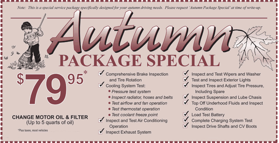 Preedy's Autumn Package Special
